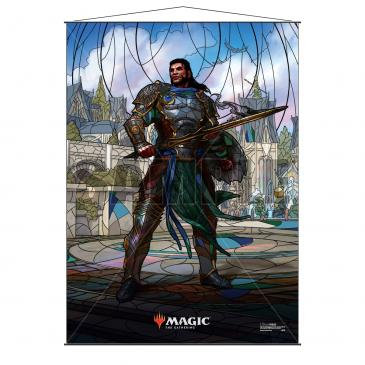 Stained Glass Planeswalkers Wall Scroll Gideon for Magic