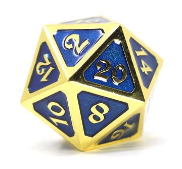 Metal DIRE D20 - Mythica Gold Sapphire