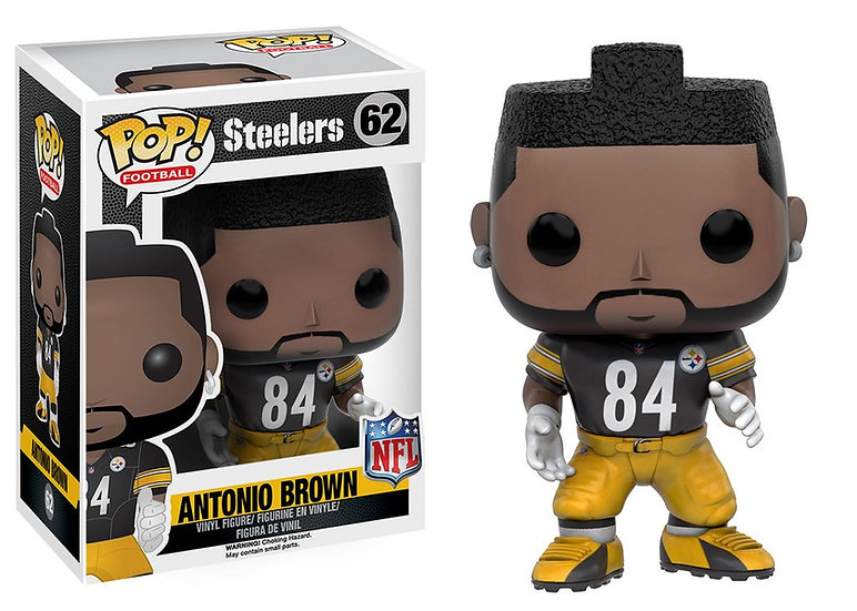 Pop! Football NFL Vinyl Figure Antonio Brown (Pittsburgh Steelers) #62 (Vaulted)