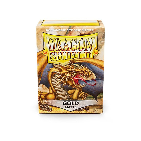 Dragon Shields: Matte Card Sleeves (100): Gold