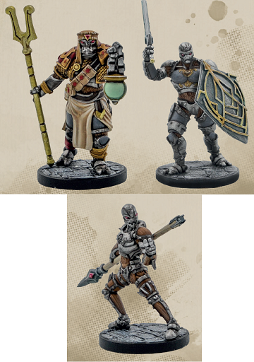 Dungeons & Dragons Collector's Series: Eberron - Warforged Monk/ Wizard/ Fighter