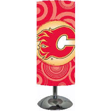 Calgary Flames Cylinder Desk Lamp