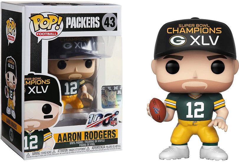 Pop! Football NFL Vinyl Figure Aaron Rodgers (Super Bowl Champion XLV) #43