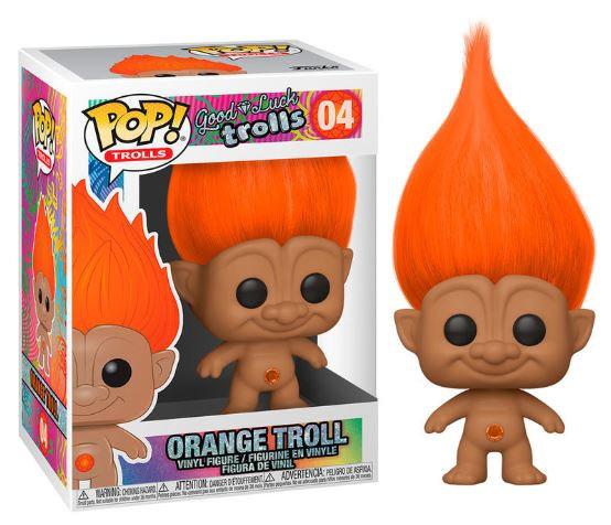 Pop! Trolls Good Luck Trolls Vinyl Figure Orange Troll #04