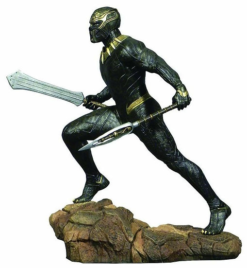 Diamond Select Toys -Marvel Black Panther Movie Killmonger 9-inch PVC Figure