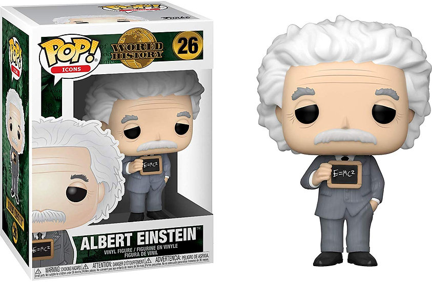 Pop! Icons World History Vinyl Figure Albert Einstein #26