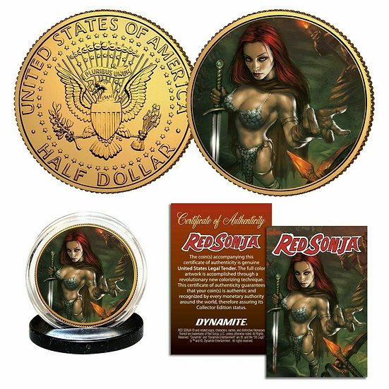 Red Sonja Collectible Coin With Stand & Certificate