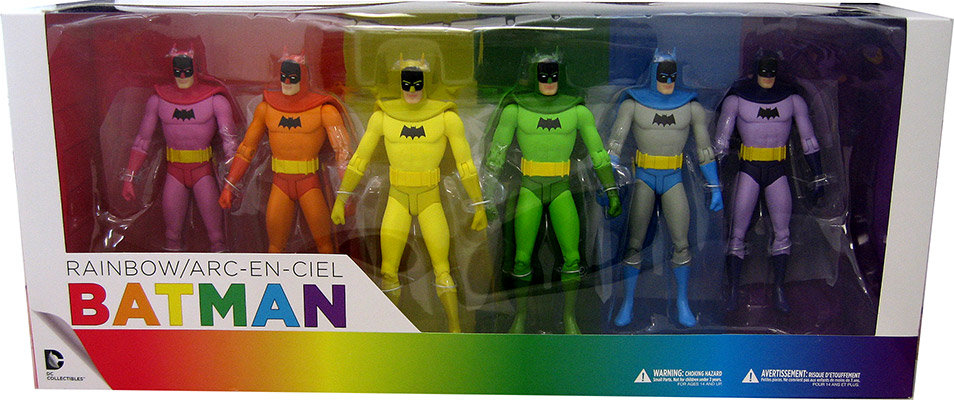 DC Comics Batman: Rainbow Batman 6-Pack [Action Figure] by DC Collectibles
