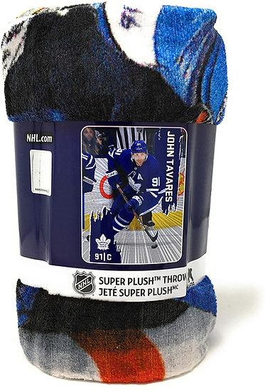 """NHL Toronto Maple Leafs Blanket with John Tavares - 46"""" x 60"""" Throw Blanket"""