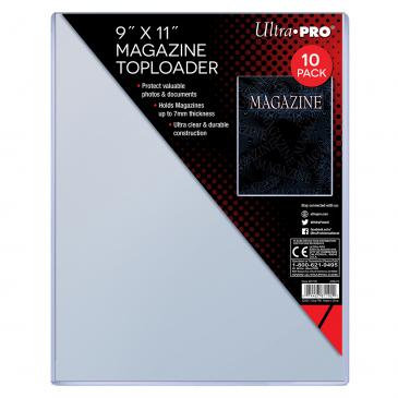 "Ultra Pro 9"" X 11-1/4"" Thick Magazine Toploader 10ct"