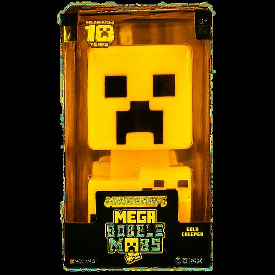 """JINX Minecraft 10 Year Anniversary Creeper Mega Bobble Mob, Gold, 5"""" Tall"""