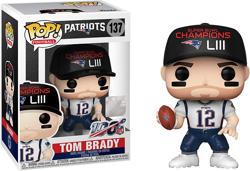 Pop! Football NFL Vinyl Figure Tom Brady (Super Bowl Champion LIII) #137
