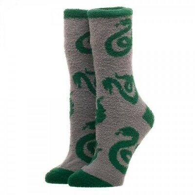 Harry Potter Slytherin Logo Fuzzy Socks