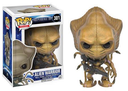 Pop! Movies Independence Day Resurgence Vinyl Figure Alien Warrior #301 Vaulted