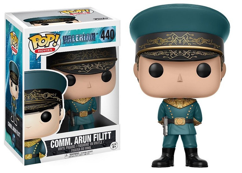Pop! Movies Valerian Vinyl Figure Commander Arun Filitt #440 (Vaulted)