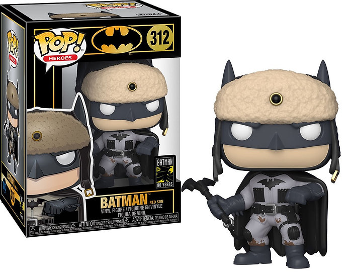 Pop! Heroes Batman Vinyl Figure Batman (Red Son) #312