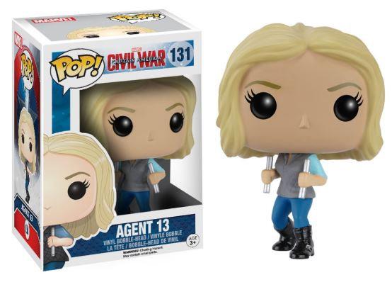 Pop! Marvel Captain America Civil War Vinyl Bobble-Head Agent 13 #131 (Vaulted)