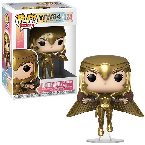 Pop! Heroes Wonder Woman 1984 Vinyl Figure Wonder Woman Golden Armor Flying #324