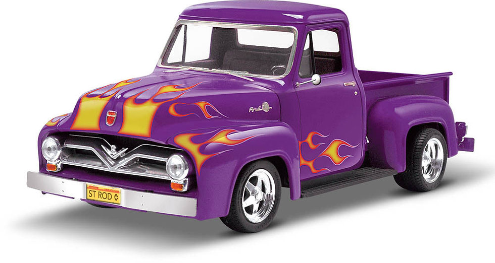 Monogram Classic Cruiser '55 Ford F-100 Street Rod 1:24 Scale Plastic Model Kit