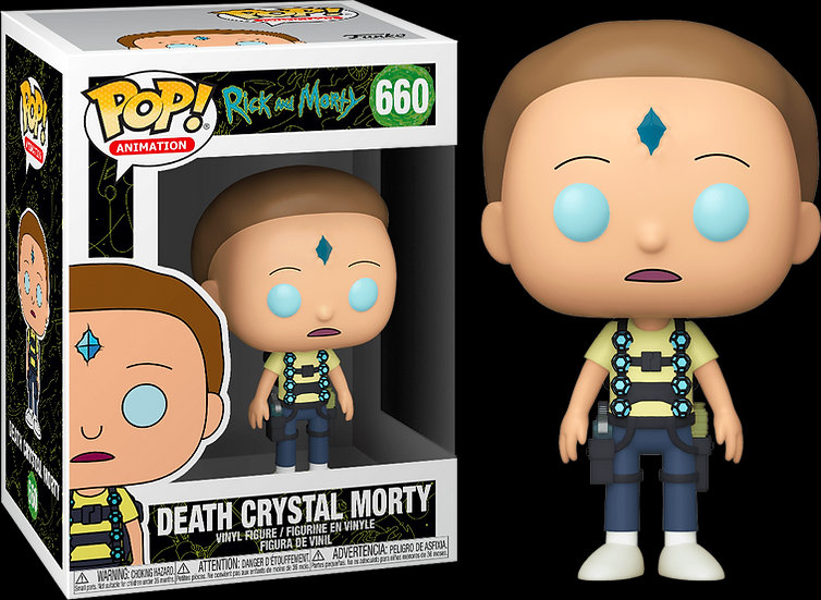 Pop! Animation Rick and Morty Vinyl Figure Death Crystal Morty #660