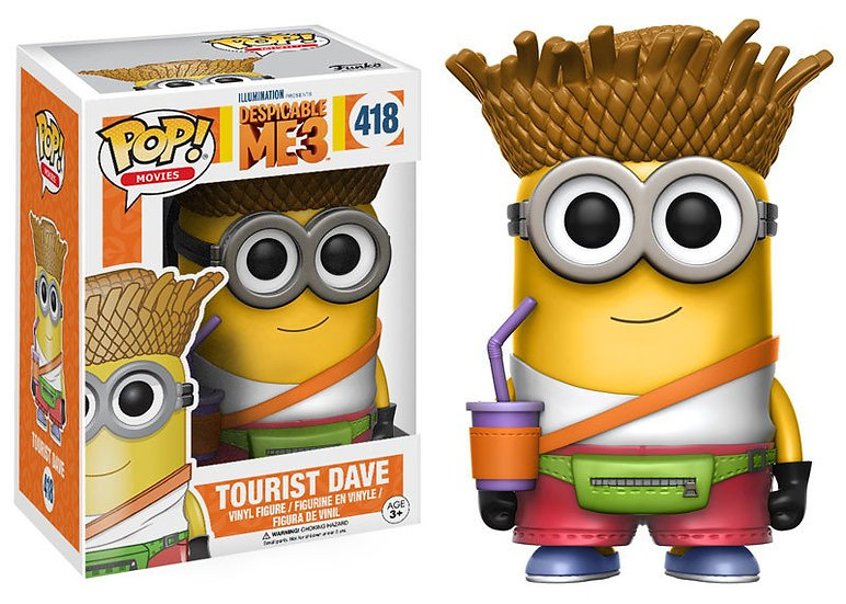 Pop! Movies Despicable Me 3 Vinyl Figure Tourist Dave #418 (Vaulted)