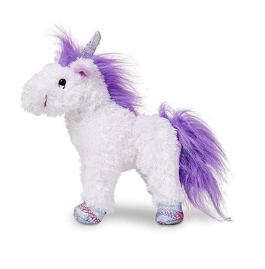 "Melissa & Doug Misty Plush Unicorn 9"" Tall"