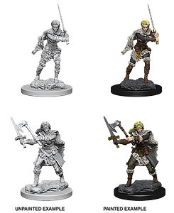 Dungeons & Dragons Nolzur's Marvelous Miniatures: Human Barbarian (Female)