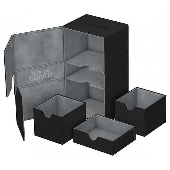 Ultimate Guard Black Twin Flip'n'Tray™ 200+ XenoSkin™