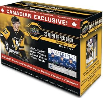 2019-20 Upper Deck Series 1 Canadian Exclusive Team Triple Blaster