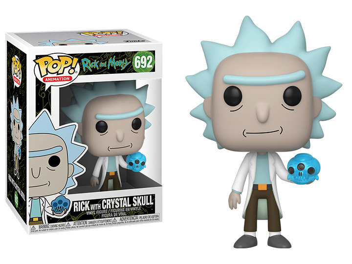 Pop! Animation Rick and Morty Vinyl Figure Rick with Crystal Skull #692