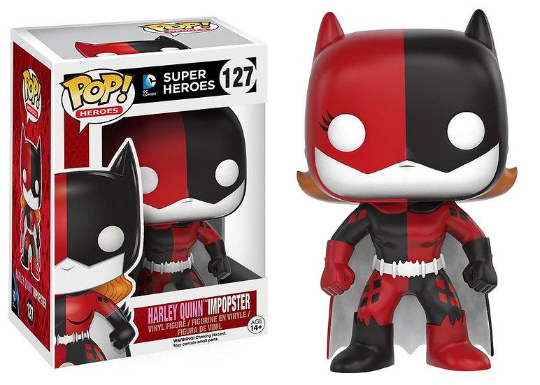 Pop! Heroes DC Vinyl Figure Batgirl as Harley Quinn Impopster #127 (Vaulted)