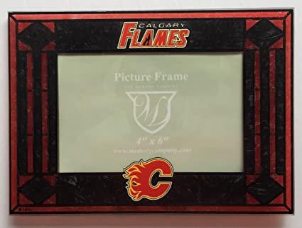 Calgary Flames Horizontal 4x6 NHL Art-Glass Picture Frame
