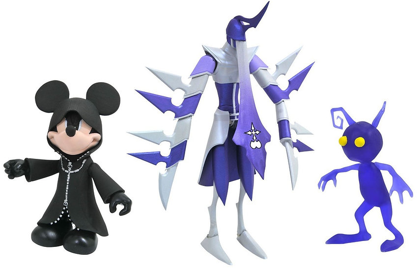 Disney Kingdom Hearts Black Coat Mickey Mouse with Shadow Assassin & Shadow