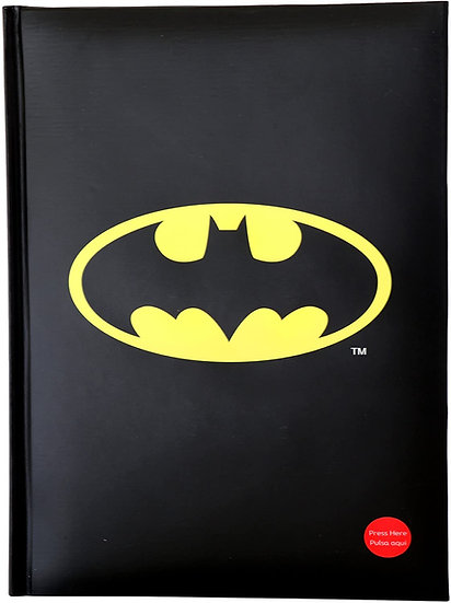 Batman Notebook with with Light Logo Toys Stationery