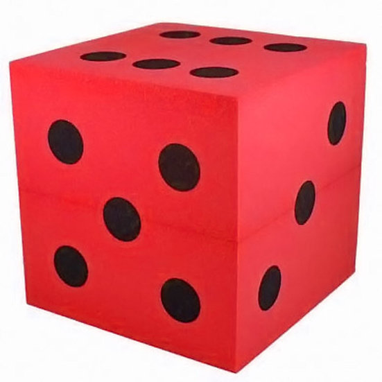 Large Foam Dice - Red 100mm D6
