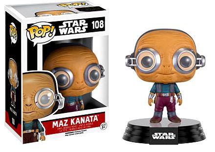 Pop! Star Wars The Force Awakens Vinyl Bobble-Head Maz Kanata #108