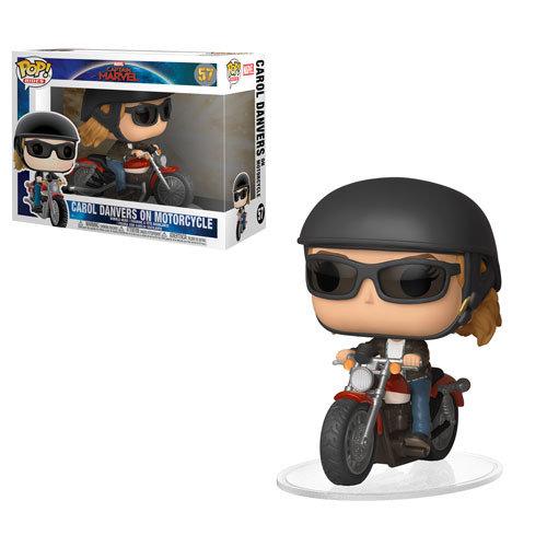 Pop! Rides Marvel Captain Marvel Bobble-Head Carol Danvers on Motorcycle #