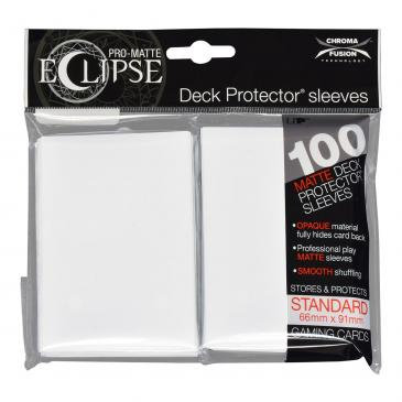 PRO-Matte Eclipse Arctic White Standard Deck Protector sleeve 100ct