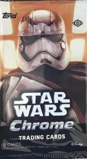 2016 Topps Star Wars Chrome: The Force Awakens 6 Card Hobby Pack