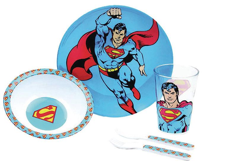 DC KIDS MEAL-TIME SET: SUPERMAN (5-PIECE)