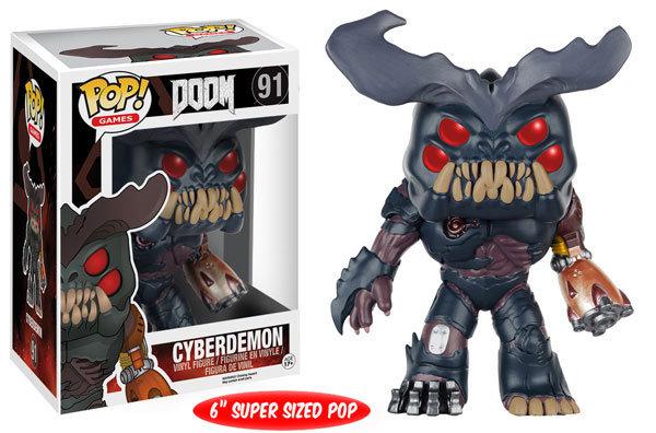 """Pop! Games Doom Vinyl Figure 6"""" Cyberdemon #91 (Vaulted)"""