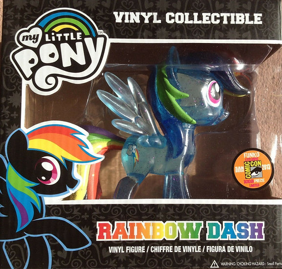 SDCC 2013 Funko My Little Pony Rainbow Dash Clear Glitter Exclusive Vinyl