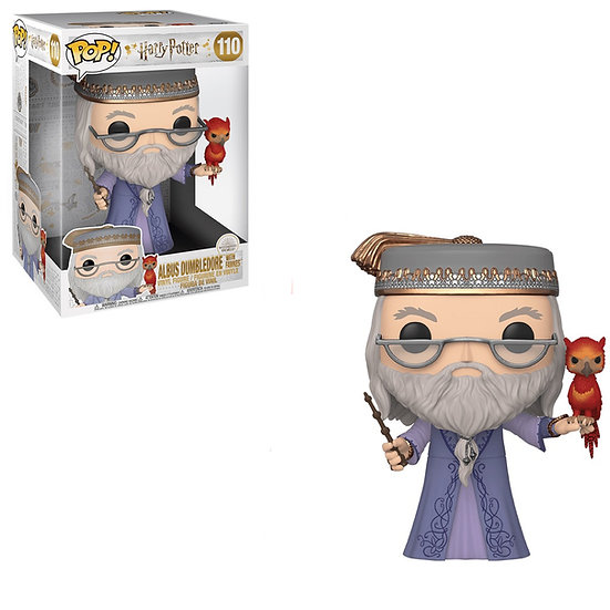 "Pop! Harry Potter Vinyl Figure 10"" Albus Dumbledore with Fawkes #110"