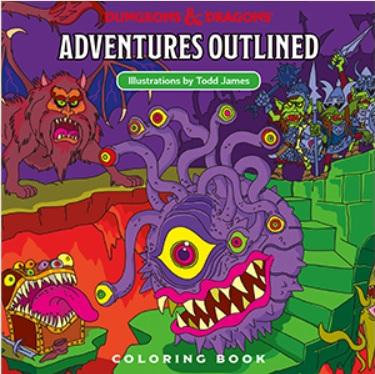 Dungeons and Dragons Adventures Outlined [Coloring Book]