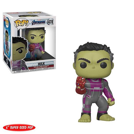 """Pop! Marvel Avengers Endgame Vinyl Bobble-Head 6"""" Hulk (with Gauntlet) #478"""