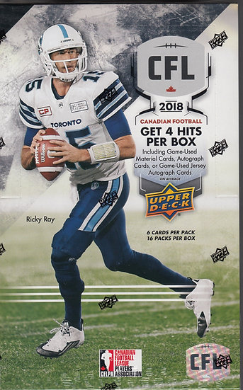 2018 CFL Football Hobby Box