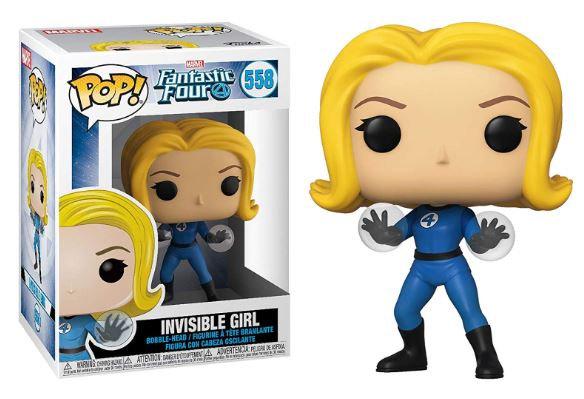 Pop! Marvel Fantastic Four Vinyl Bobble-Head Invisible Girl #558