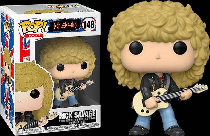 Pop! Rocks Def Leppard Vinyl Figure Rick Savage #148