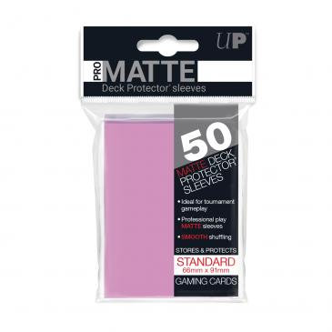 50ct Pro-Matte Pink Standard Deck Protectors