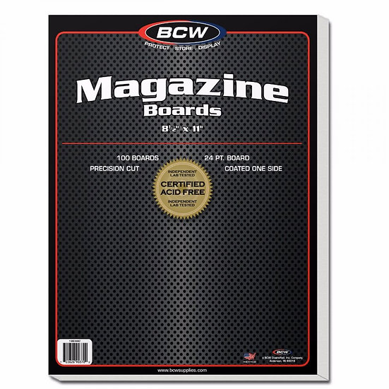 BCW Magazine Backing Boards 100 Boards per Pack